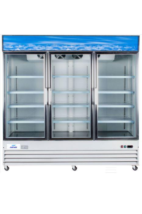 Réfrigérateur Commercial Portes Battantes Vitrées Large Danair - Refrigerateur 3 portes